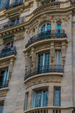 Parisian Balcony. With iron gates royalty free stock photo