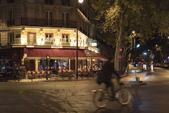 Parisian bistro at night Royalty Free Stock Photography