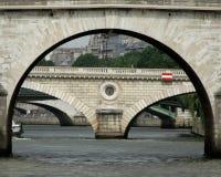 Parisian bridge arch Royalty Free Stock Image