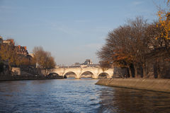 Parisian bridge Pont Neuf, France. Stock Photography