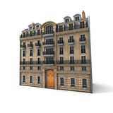 Parisian building. 3D rendering of a typically Parisian building Royalty Free Stock Photography