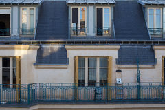 Parisian building facade, France. Typical building facade with balcony from Paris, France Royalty Free Stock Photography