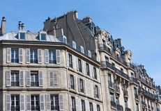 Parisian buildings Royalty Free Stock Photo