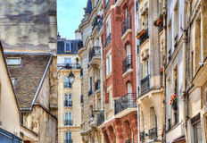 Parisian buildings. Royalty Free Stock Photos