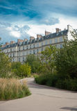 Parisian buildings from a park Royalty Free Stock Images