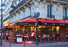 The parisian cafe L'etoile 1903, Paris, France. Stock Photos
