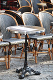 Parisian cafe terrace Royalty Free Stock Photo