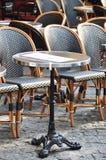Parisian cafe terrace royalty free stock photo