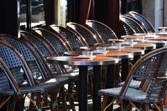 Parisian cafe terrace stock photos