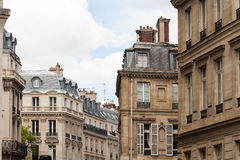 Parisian cityscape of classic architure Stock Images