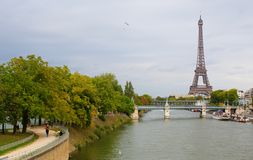 Parisian cityscape with Eiffel tower Stock Photography