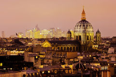 Parisian cityscape at night Stock Photography