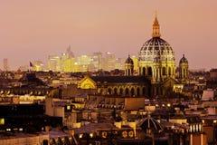 Parisian cityscape at night Stock Photography