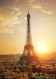 Cityscape with Eiffel Tower Stock Photos