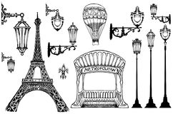 Parisian details-lights Royalty Free Stock Images