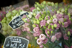 Parisian Flower Bouquets Royalty Free Stock Image