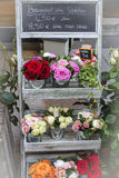 Parisian Flower Stand Stock Photos