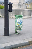 The Parisian garbage bags from transparent green polyethylene Stock Images