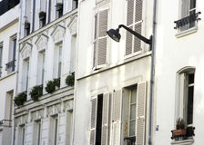 Parisian homes with light Royalty Free Stock Photos