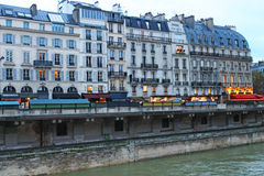 Parisian house. On the banks of the river seine Royalty Free Stock Photos