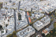Parisian house. The view from the eiffel tower Royalty Free Stock Photography