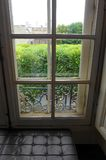 Parisian house window with view stock image