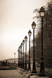 Parisian lamp posts Royalty Free Stock Photos