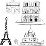 Parisian landmarks Royalty Free Stock Photo