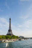 Parisian landscape. The Eiffel Tower in Paris Stock Photography
