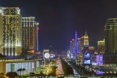 Parisian Macao and Venetian casino night view Royalty Free Stock Photography