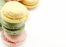 Parisian macarons Royalty Free Stock Photos