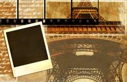 Parisian memories. Vintage photo-album series - Paris Royalty Free Stock Image
