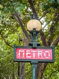 Parisian Metro Royalty Free Stock Photography