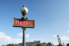 Parisian metro sign Stock Image