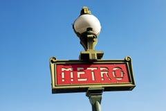 Parisian metro sign Royalty Free Stock Photography