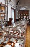 Parisian museum of paleontology. Ammonites roomParis, France royalty free stock photos