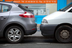 Parisian parking Stock Images