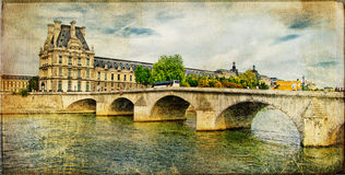 Parisian picture - retro card Royalty Free Stock Images