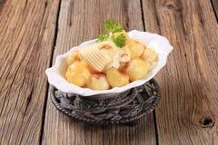 Parisian potatoes with mozzarella cheese Stock Photo