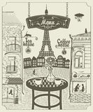 Parisian restaurant Royalty Free Stock Photo