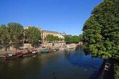 Parisian River Boats Royalty Free Stock Photos