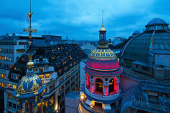 Parisian roofs at night Royalty Free Stock Photography