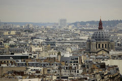 Parisian roofs. View from the Montparnasse tower in Paris. Autumn Stock Image