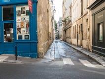 Parisian rue Visconti freshly washed on Sunday morning Stock Images