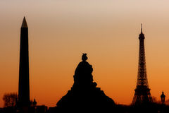 Parisian Silhouettes Royalty Free Stock Photography