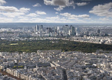 Parisian skyline Royalty Free Stock Photo