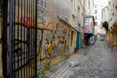 parisian street Zdjęcia Royalty Free