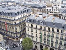 Parisian Buildings and streets view from up top Stock Image