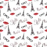 Parisian style seamless pattern stock illustration