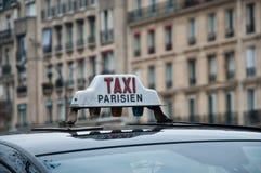 parisian taxa Fotografering för Bildbyråer